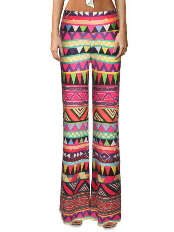 Dreieck Muster Flare Bein Hose - COLORMIX  S