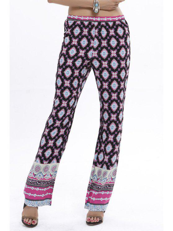 ladies Flare Tribal Print Pants - COLORMIX S
