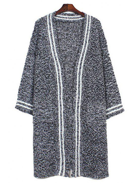 best Pure Color Long Sleeves Loose Fitting Cardigan - GRAY ONE SIZE(FIT SIZE XS TO M)