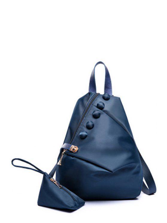 Bouton Solid Metal Couleur Satchel - Bleu Foncé
