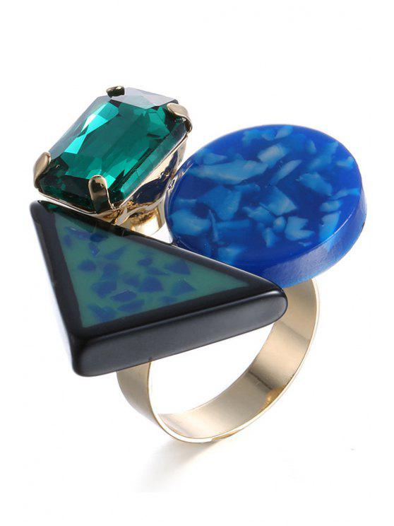 affordable Rhinestone Geometric Ring For Women - GOLDEN ONE-SIZE