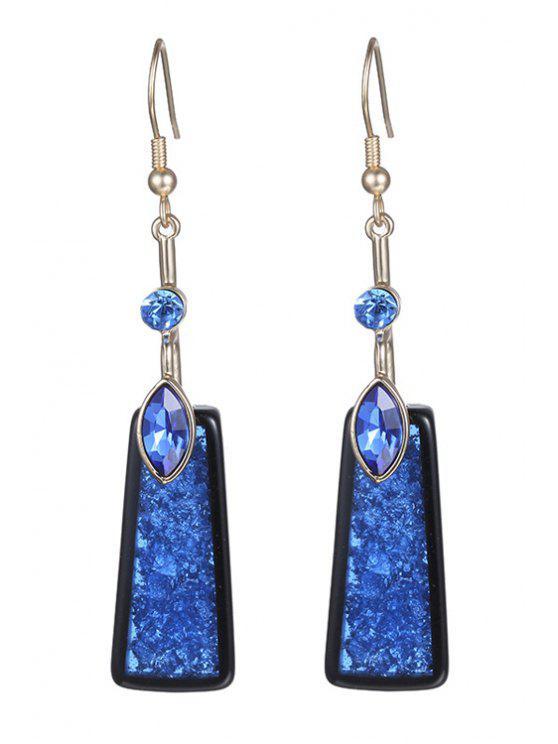ladies Rhinestone Geometric Drop Earrings For Women - SAPPHIRE BLUE