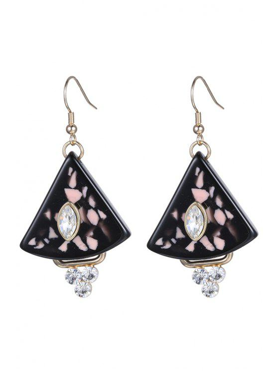 lady Rhinestone Triangle Earrings For Women - BLACK