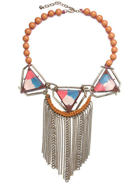 outfits Tassel Triangle Necklace For Women - COLORFUL