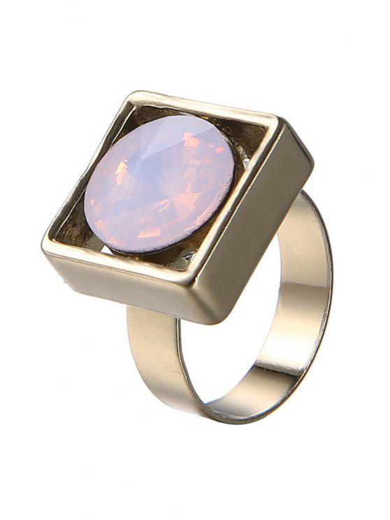 buy Faux Gemstone Square Ring For Women - PINK ONE-SIZE