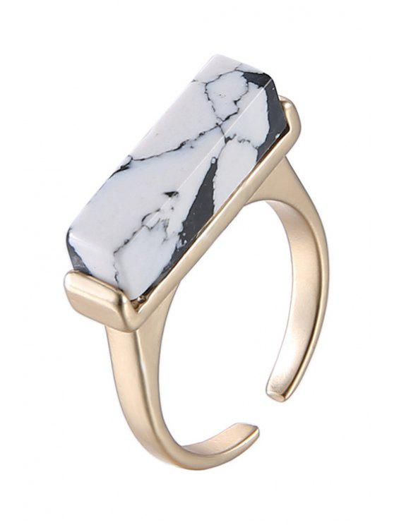 women's Geometric White Turquoise Cuff Ring For Women - GOLDEN ONE-SIZE