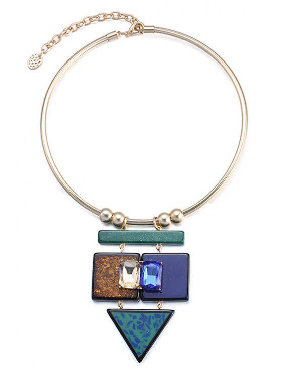 shop Faux Gemstone Geometric Necklace For Women - COLORMIX