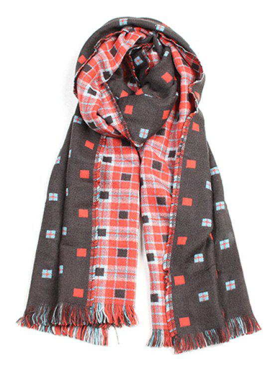 outfit Plaid Pattern Fringed Edge Winter Scarf - JACINTH
