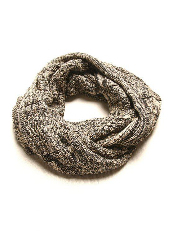 ladies Mixed Color Knitted Neck Warmer - BLACK