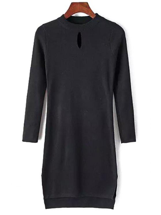 new Pure Color High Low Dress - BLACK ONE SIZE(FIT SIZE XS TO M)