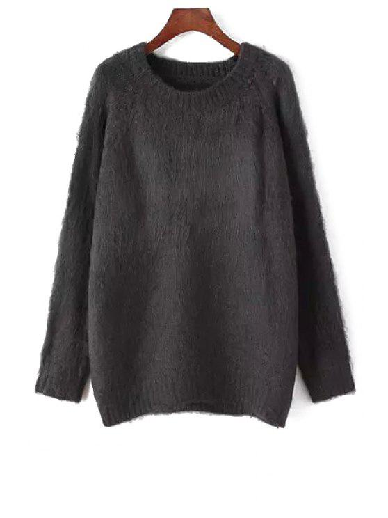 affordable Long Sleeve Pure Color Sweater - BLACK ONE SIZE(FIT SIZE XS TO M)