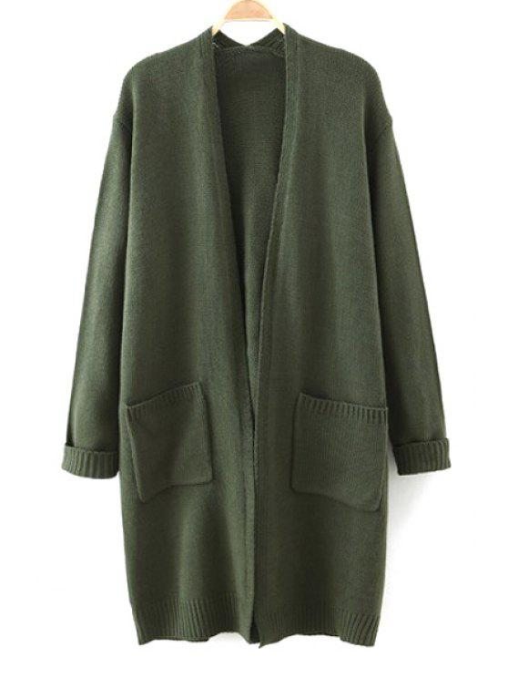 women's Letter Pattern Long Sleeve Cardigan - GREEN ONE SIZE(FIT SIZE XS TO M)