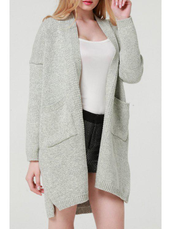 lady Gray Long Sleeve Long Cardigan - LIGHT GRAY ONE SIZE(FIT SIZE XS TO M)
