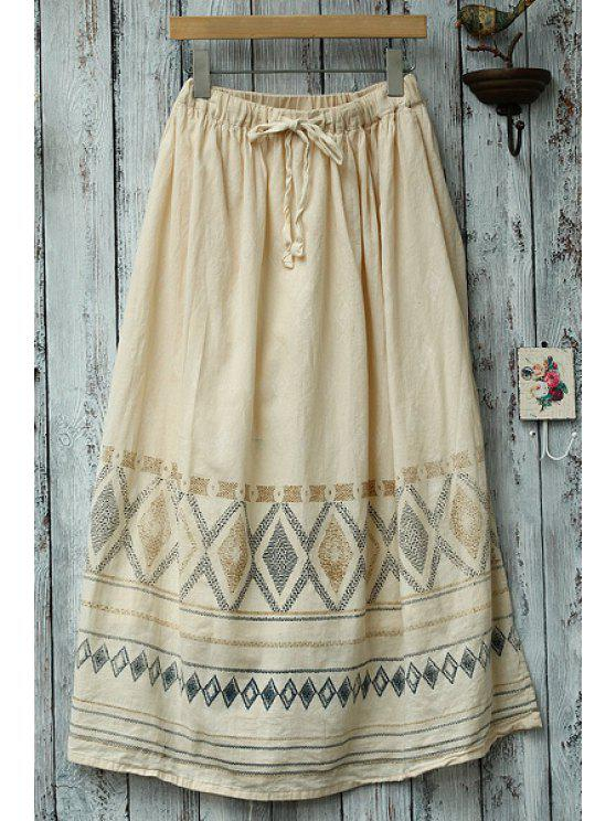 hot Loose Fitting Argyle Print Brief Skirt - BEIGE ONE SIZE(FIT SIZE XS TO M)