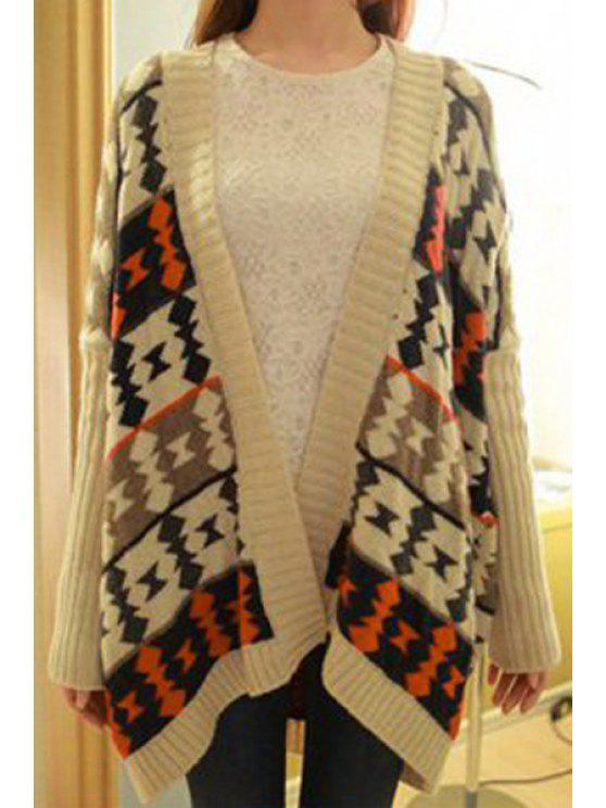 outfit Ethnic Pattern Long Sleeves Cardigan - APRICOT ONE SIZE(FIT SIZE XS TO M)