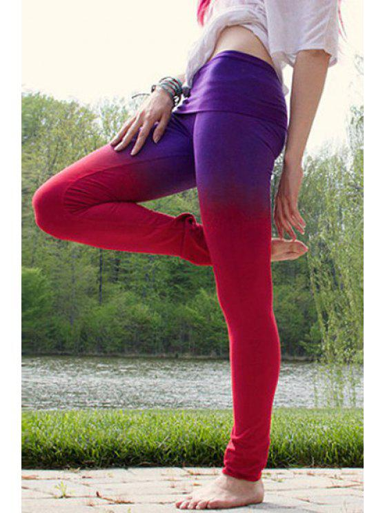 Pantalones Ombre Color Pencil - Azul y Rojo S