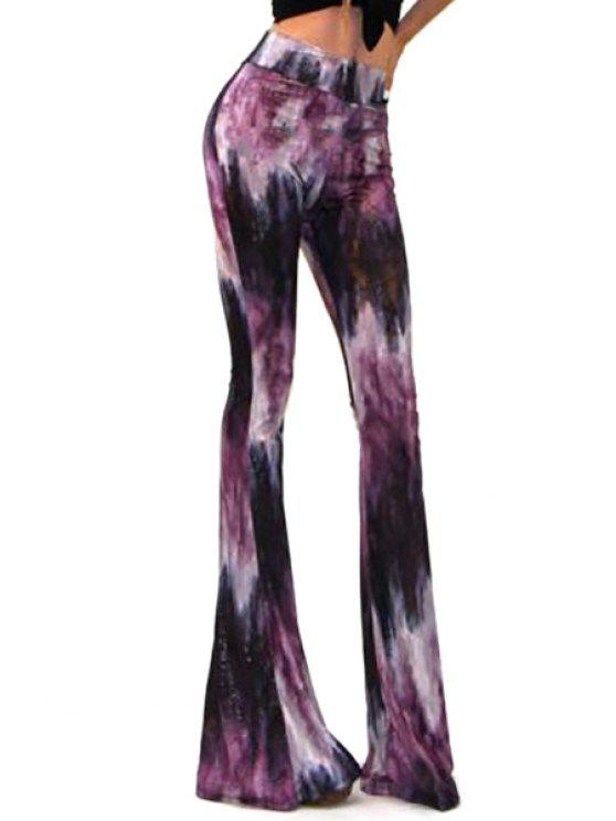 outfit Printed Casual Women's Bell Bottom Pants - COLORMIX S
