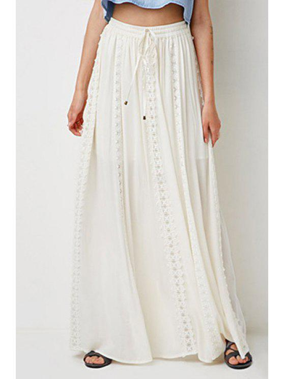 women Off-White Elastic Waist Drawstring Maxi Skirt - OFF-WHITE M