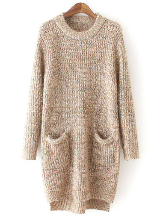 fashion Pure Color Long Sleeve Sweater Dress - APRICOT ONE SIZE(FIT SIZE XS TO M)