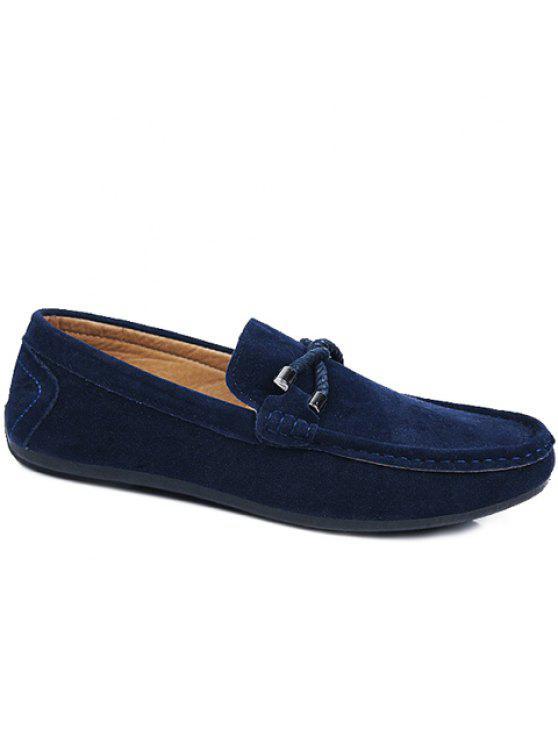 حذاء أنيق للرجال من الجلد السويدي - أزرق 42