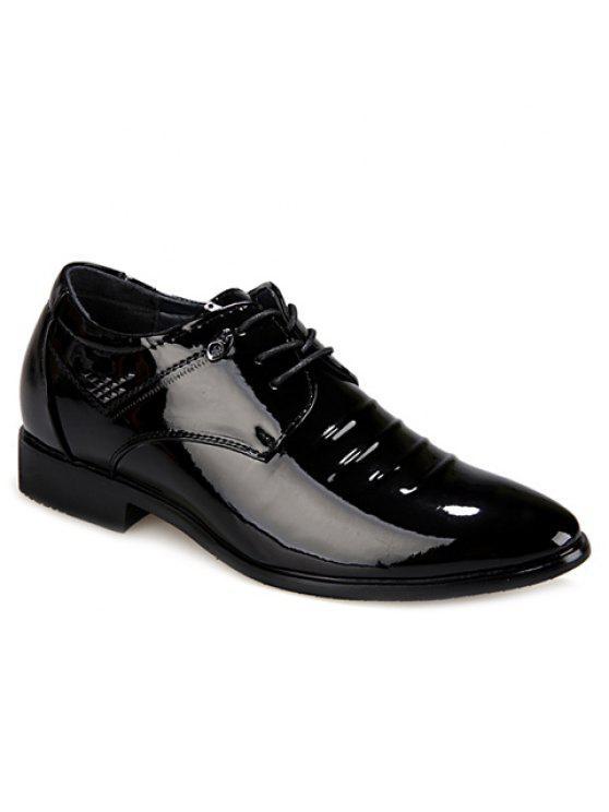 Chaussures habillées à la mode Black and Lace-Up Design Men's Formal Shoes - Noir 39