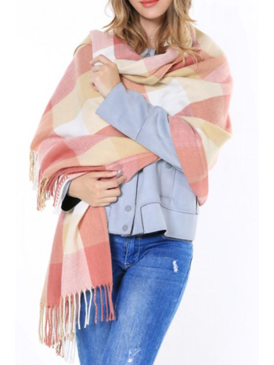 best Chic Various Plaid Pattern Tassel Winter Scarf For Women - RANDOM COLOR PATTERN