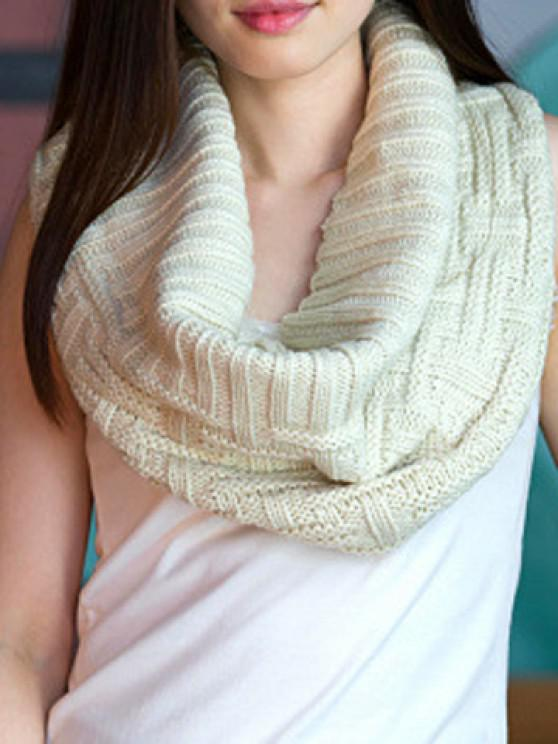 outfit Chic Short Stripe Jacquard Solid Color Knitted Neck Warmer For Women - RANDOM COLOR