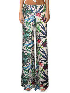 Floral Print Flare Yoga Pants - M