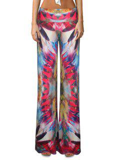Colorful Flare Palazzo Pants - L