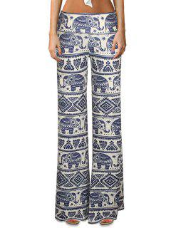 Elephant Print Bell Bottoms - Xl