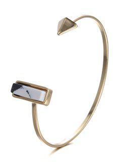 Alloy Geometric Cuff Bracelet - Golden