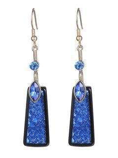 Rhinestone Geometric Drop Earrings For Women - Sapphire Blue