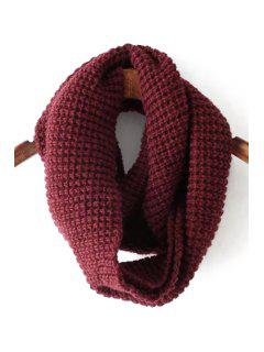 Pure Color Knitted Neck Warmer - Red