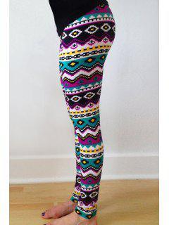 Geometric Print Skinny Colorful Leggings