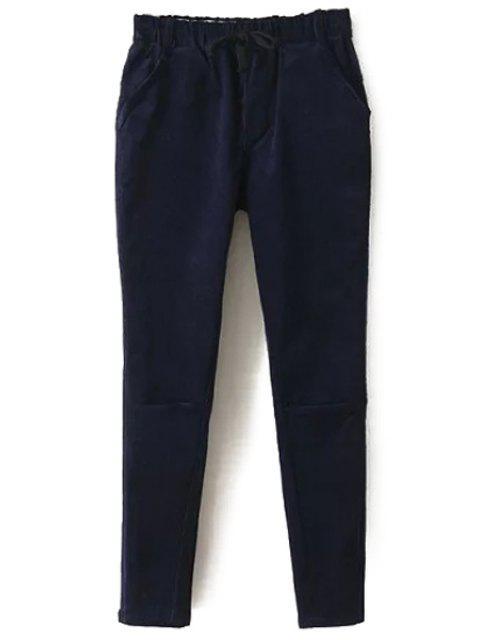 outfit Solid Color Corduroy Women's Harem Pants - CADETBLUE M Mobile