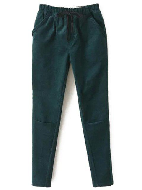 shops Solid Color Corduroy Women's Harem Pants -   Mobile