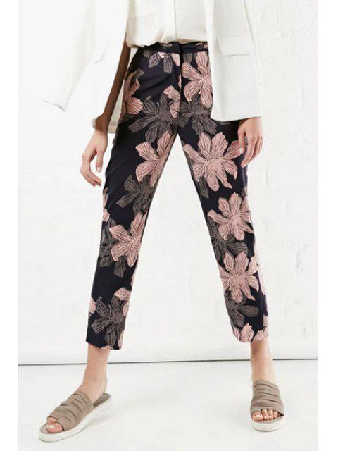 buy Retro Floral Print Loose Fitting Nine Minutes Of Pants - COLORMIX S Mobile