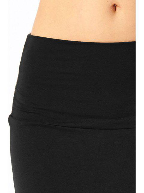 outfit Packet Buttocks Solid Color Dovetail Skirt - BLACK M Mobile