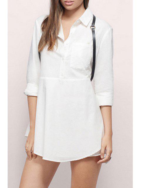 Robe à manches longues à manches longues - Blanc XL Mobile