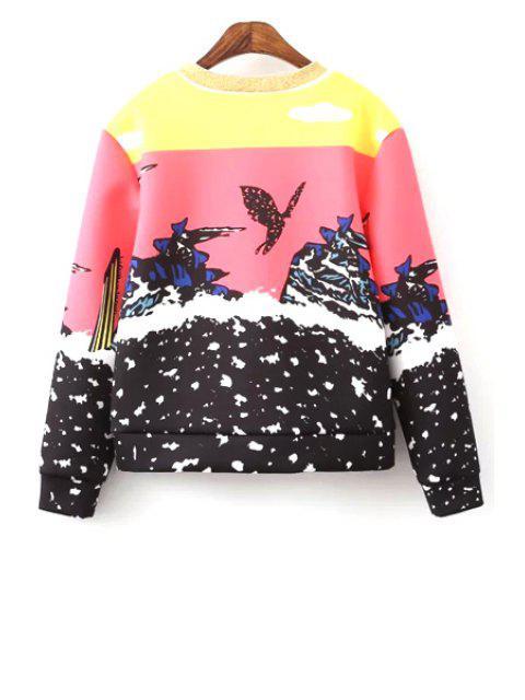buy Round Neck Colorful Sweatshirt - COLORMIX M Mobile