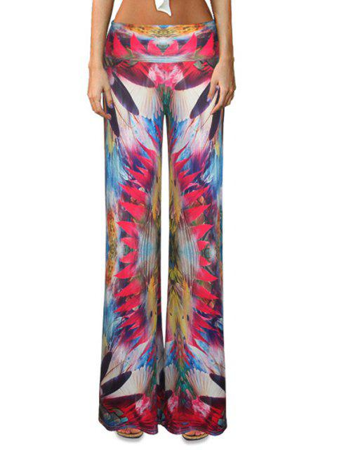 ladies Colorful Flare Palazzo Pants - COLORMIX XL Mobile
