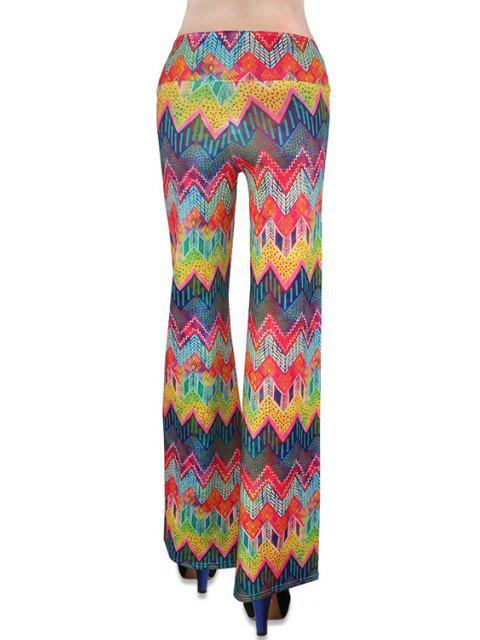 best Chevron Stripe Colorful Bell Bottoms - COLORMIX S Mobile