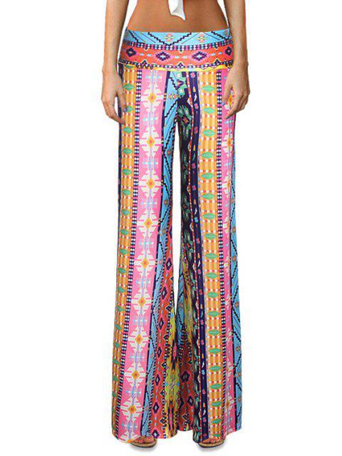 Pantalon élastique à taille imprimée - Multicolore L Mobile