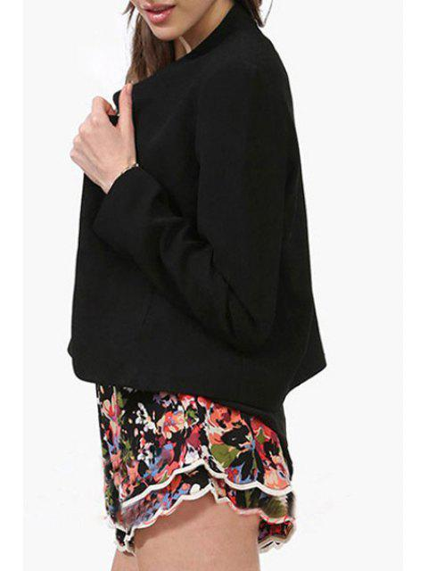 shops Candy-Colored Notched Blazer - BLACK L Mobile