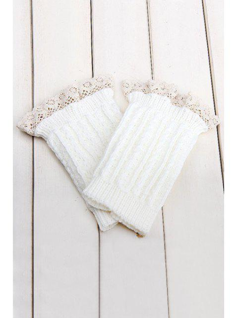 unique Lace Herringbone Knitted Boot Cuffs -   Mobile