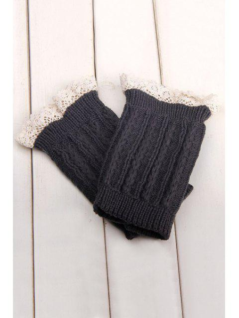 sale Lace Herringbone Knitted Boot Cuffs -   Mobile