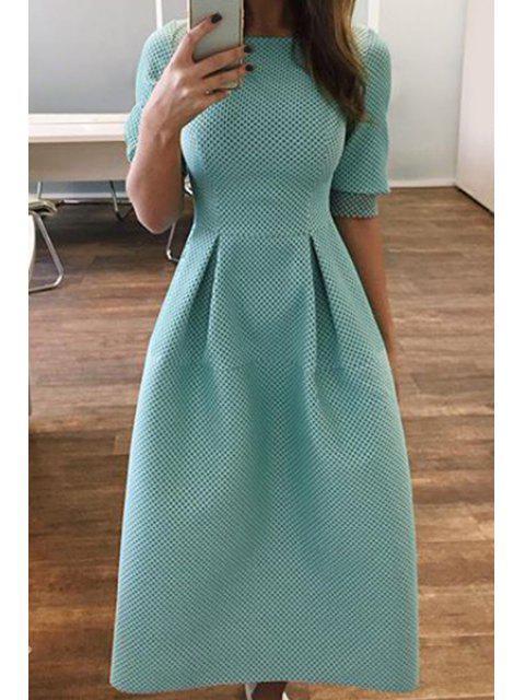 womens Light Blue Half Sleeve Dress - LIGHT BLUE S Mobile
