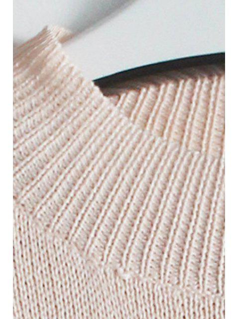 chic Ruffle Sleeve Lamb Pattern Jumper - PINK ONE SIZE(FIT SIZE XS TO M) Mobile