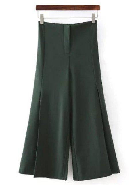 buy Solid Color All Match Loose Fitting Palazzo Pants -   Mobile