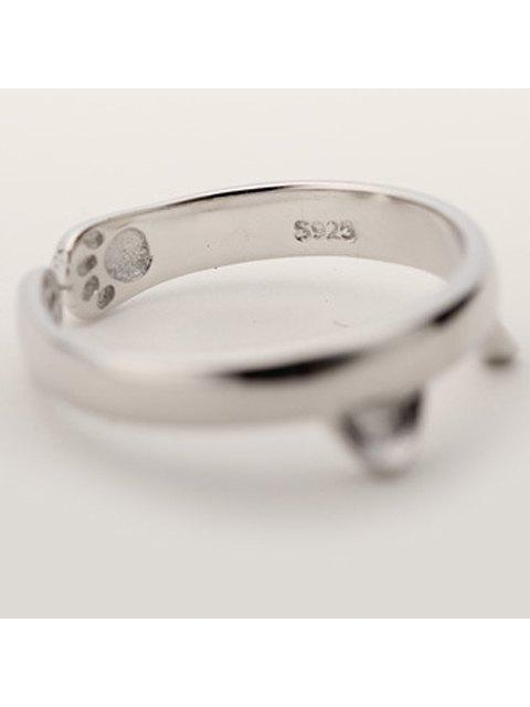 hot Alloy Cat Cuff Ring - SILVER ONE-SIZE Mobile